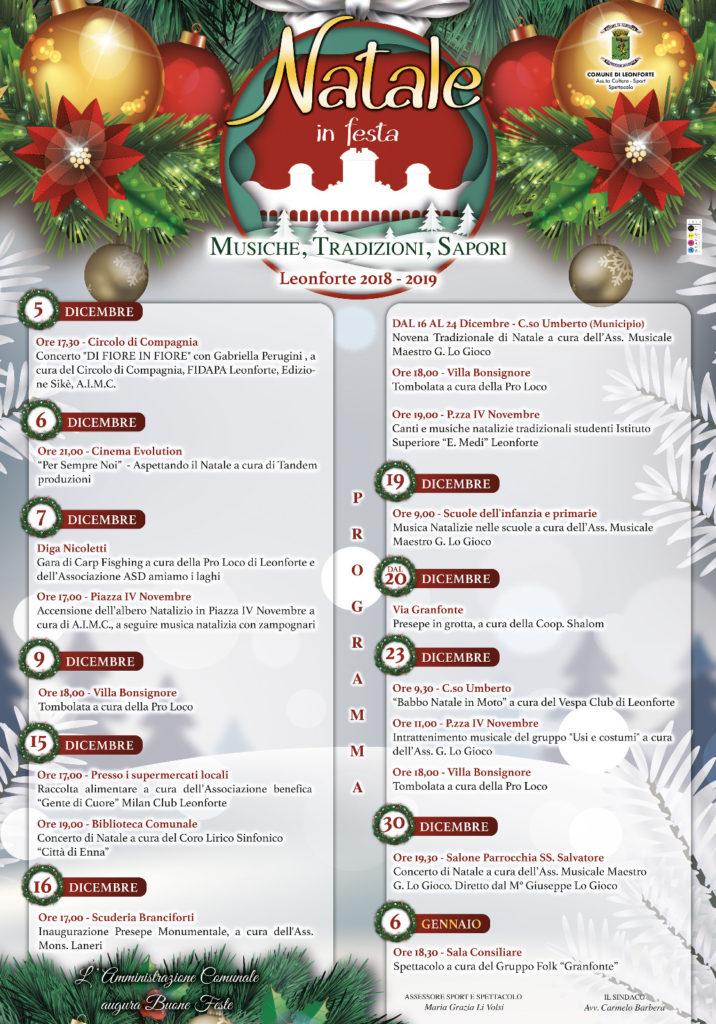 Programma natalizio 2018-19