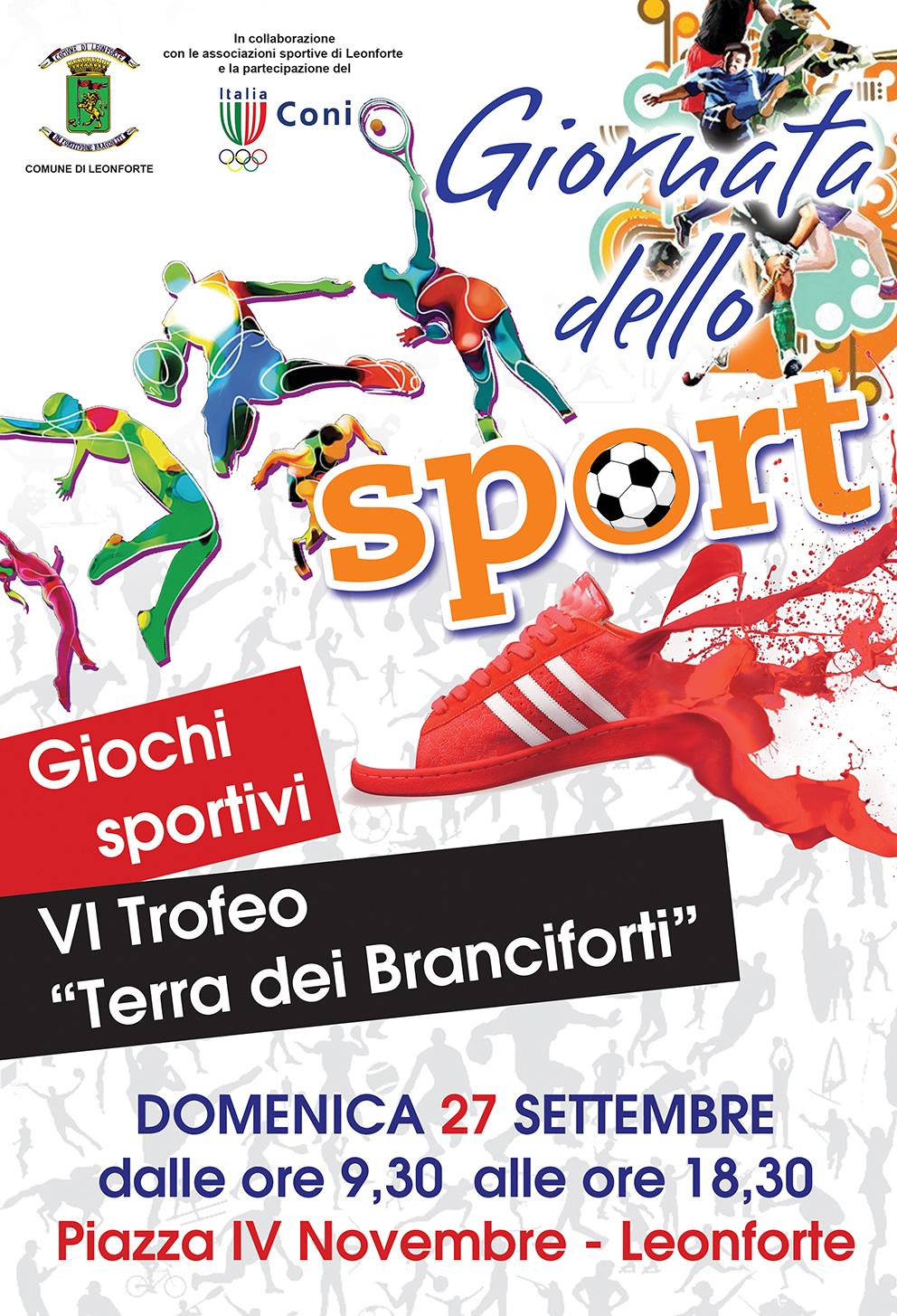 """Prima Giornata dello Sport – VI Trofeo podistico """"Terra dei Branciforti"""""""