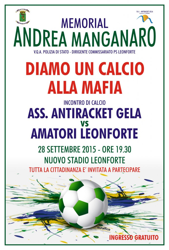Diamo un calcio alla mafia – Memorial Andrea Manganaro