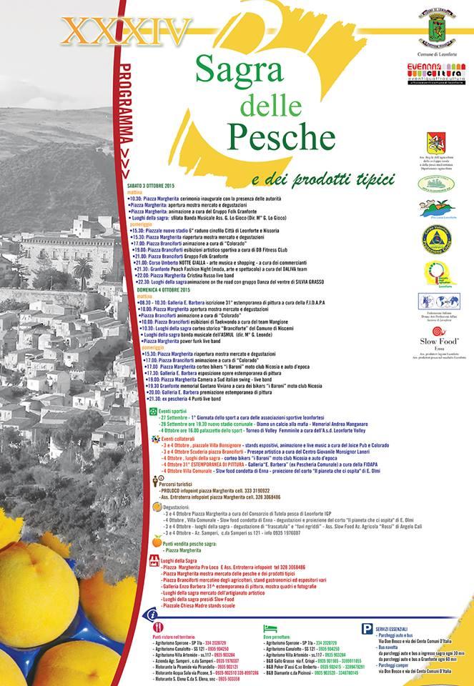 Pubblicato il programma della XXXIV Edizione della Sagra delle Pesche