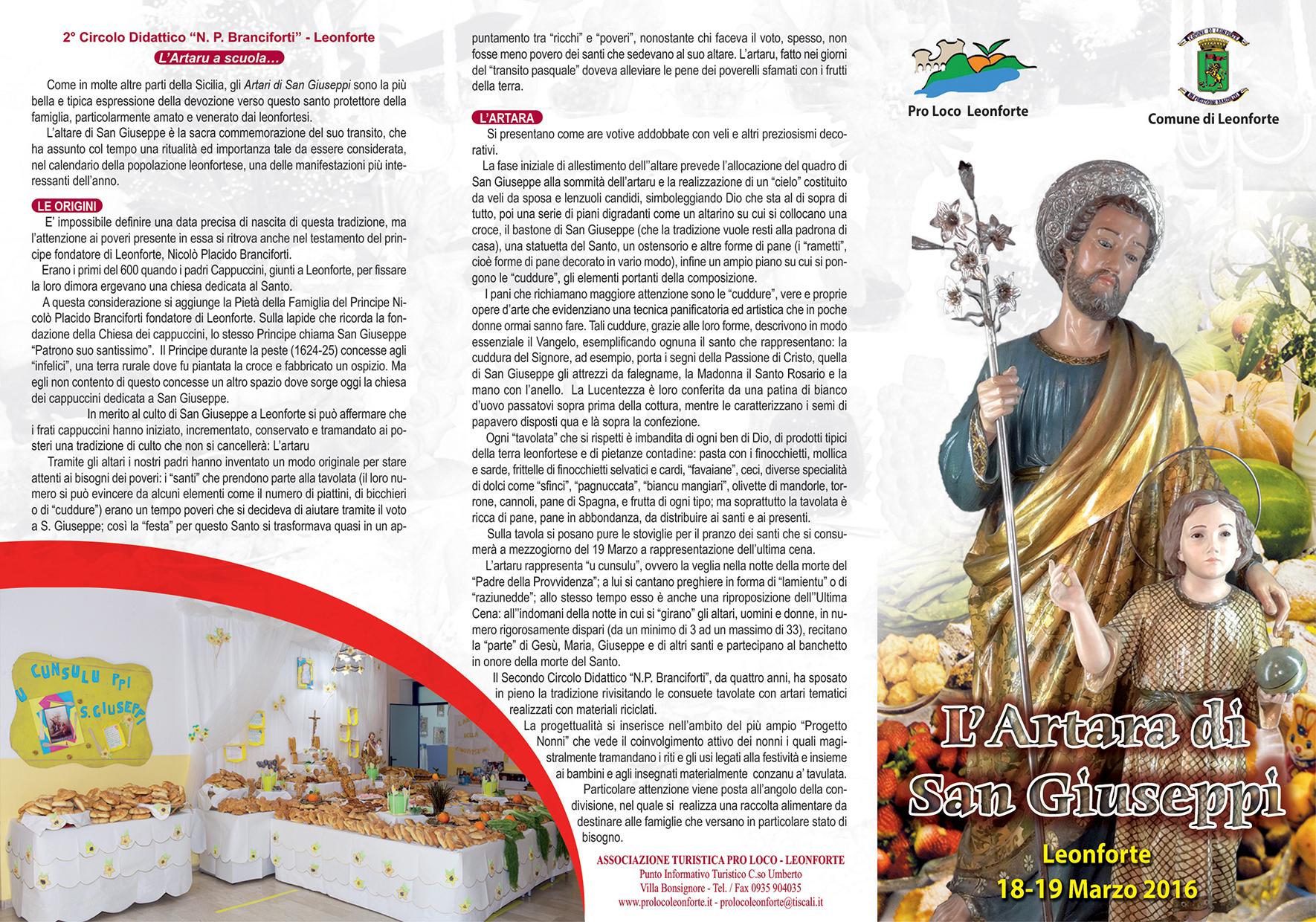 L'artara di San Giuseppe – Leonforte 18-19 marzo 2016