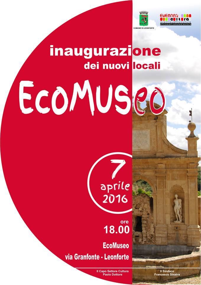 Inaugurazione nuovi locali Ecomuseo