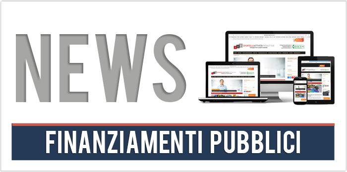 News finanziamenti pubblici