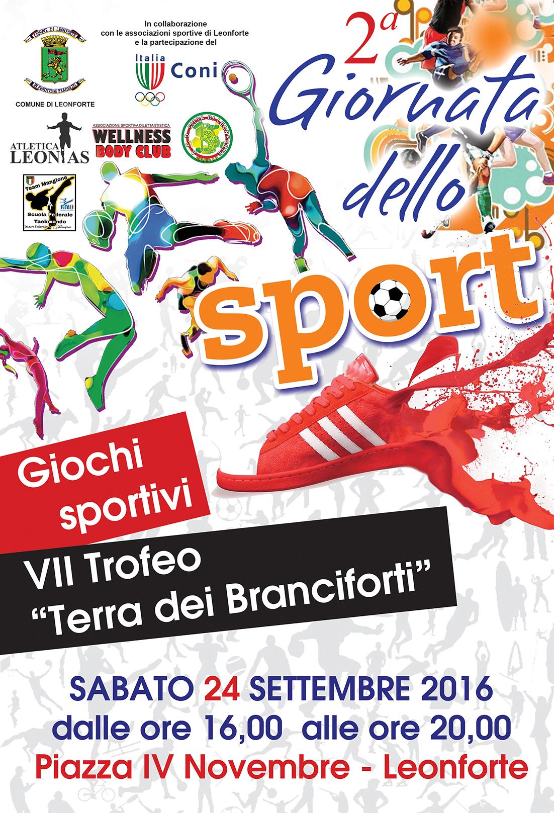 """Seconda Giornata dello Sport e VII trofeo """"Terra dei Branciforti"""""""