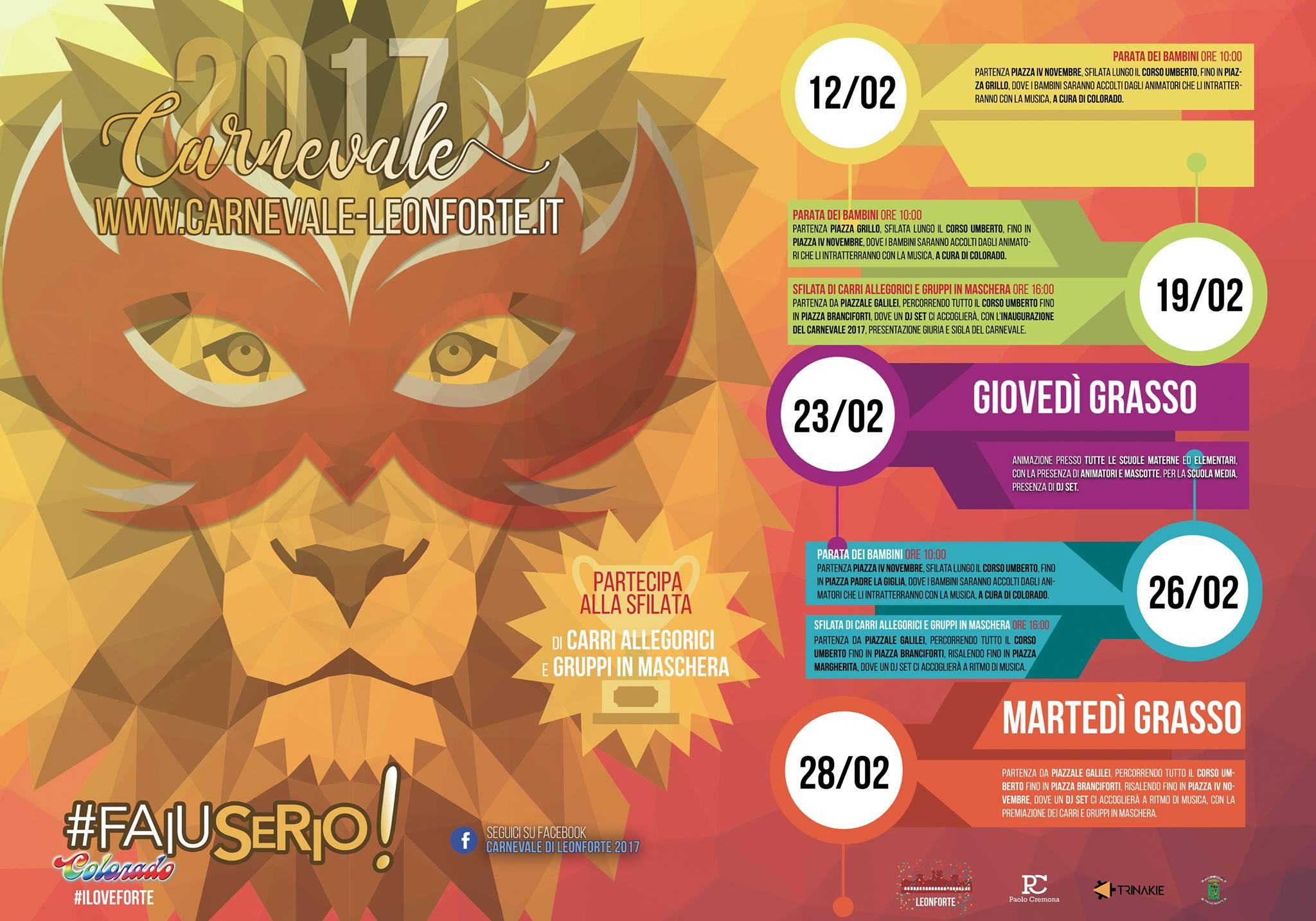 Programma carnevale 2017